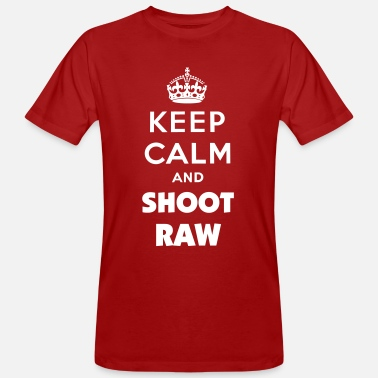 Keep calm and shoot RAW  - Männer Bio-T-Shirt