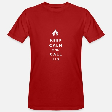 Bewerber Keep calm and call 112 - Männer Bio T-Shirt