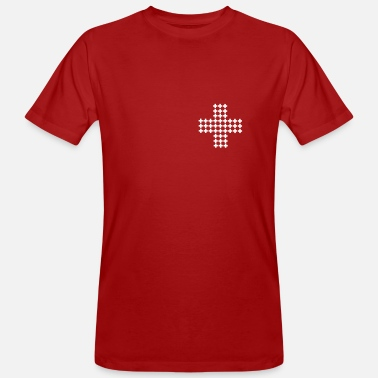 Swiss Cross Many Swiss crosses - Men's Organic T-Shirt