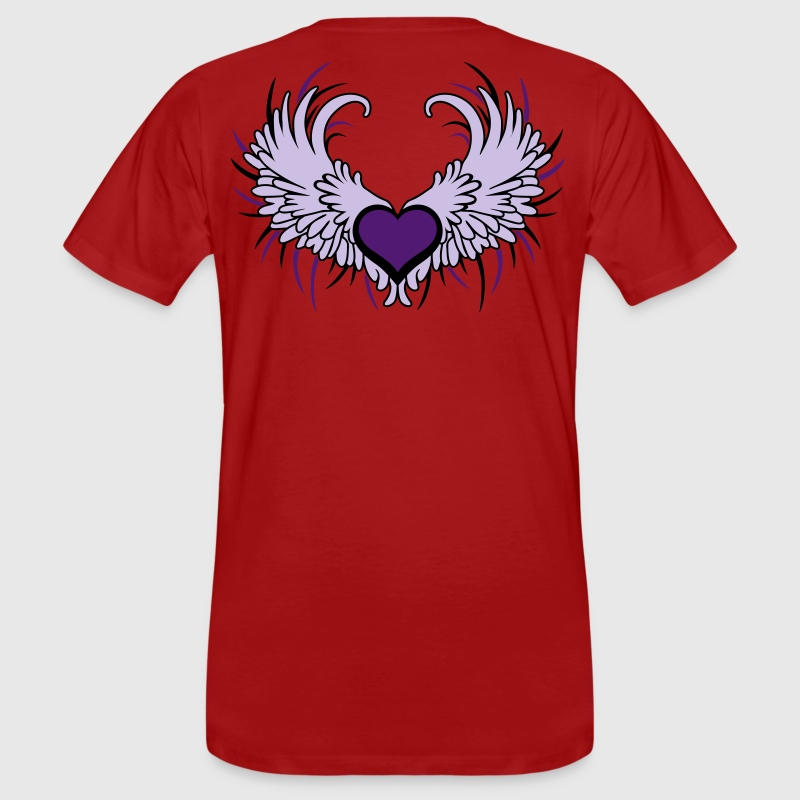 Heart with Wings - Mannen Bio-T-shirt