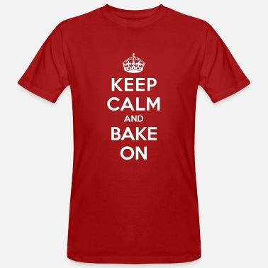 Keep calm and bake on - Men's Organic T-Shirt