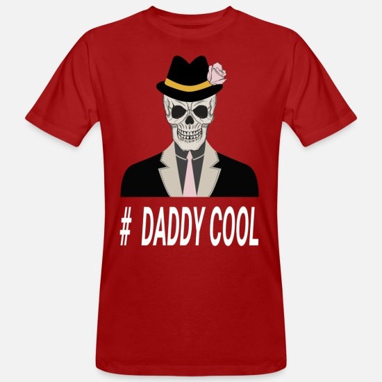 Cool T-shirts - Daddy Cool T-Shirt Design - Mannen bio T-shirt donkerrood