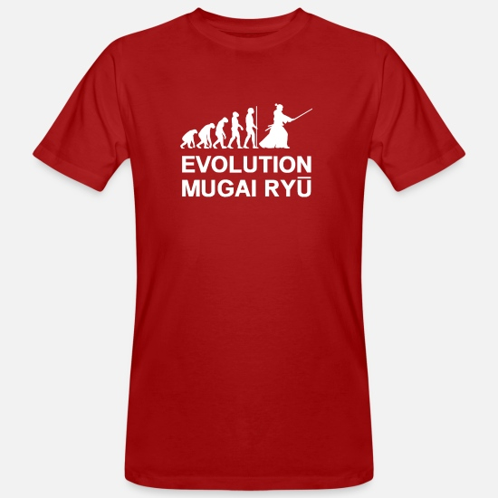 Japan T-Shirts - Mugai-RYU-EVOLUTION - Men's Organic T-Shirt dark red