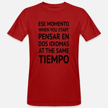 Spanish Spanglish Learning Spanish - Men's Organic T-Shirt