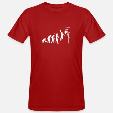 Basketball Evolution Basketball T-shirt - Mannen bio T-shirt