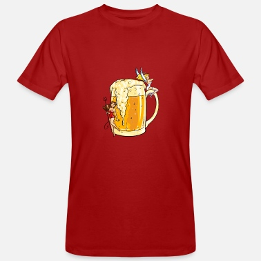 Drinking Sexy beer with devils & little angels - Men's Organic T-Shirt