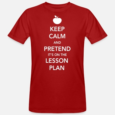 Everyday Keep Calm and Pretend It's on the Lesson Plan - Men's Organic T-Shirt