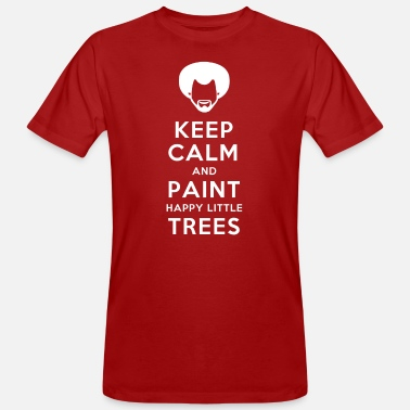 Keep calm and paint happy little trees - Männer Bio T-Shirt