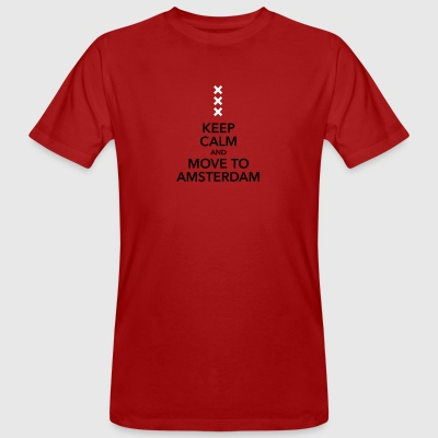 keep calm move to Amsterdam Holland Kreuz Cross - Männer Bio-T-Shirt