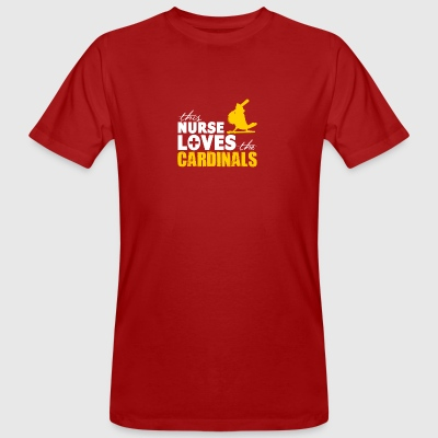 Nurse loves cardinals - Men's Organic T-shirt