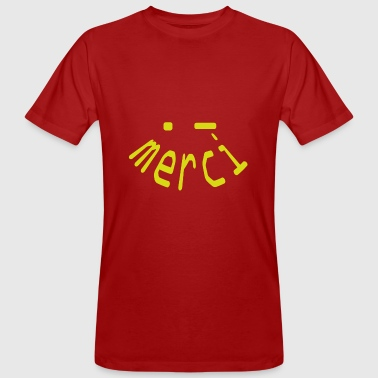 merci yellow smiley - Men's Organic T-shirt
