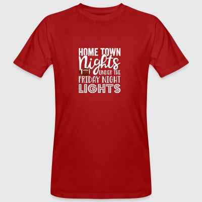Home Town Nights unter dem Friday Night Lights Gif - Männer Bio-T-Shirt