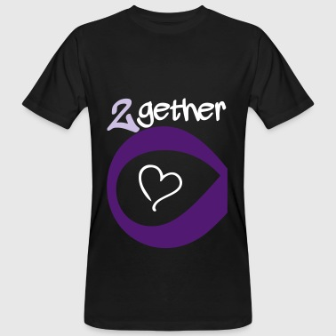 Couple Together forever Infinity - Männer Bio-T-Shirt