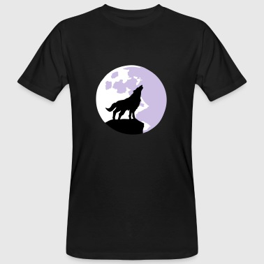 wolf and full moon - Mannen Bio-T-shirt