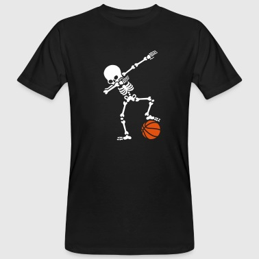 Dab dabbing skeleton football basketball - T-shirt ecologica da uomo