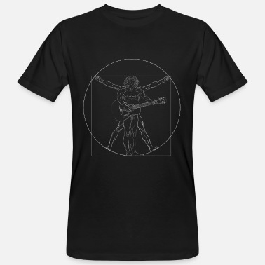 Guitarist Da Vinci Rock Guitar Guitarist Retro Gift - Men's Organic T-Shirt