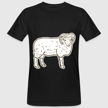 Sheep face animal gift - Men's Organic T-Shirt