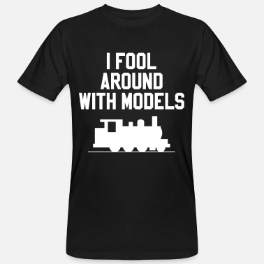 Model Train Model train model railway train station - Men's Organic T-Shirt