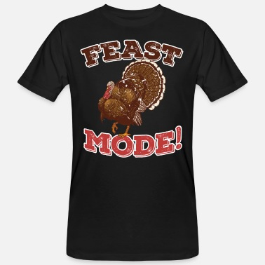 His Is What Thanksgiving Shirt Funny - FEAST MODE Tyrkiet Family Dinner - Organic mænd