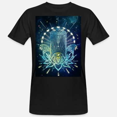 Hallucination Hamsa Hand - Men's Organic T-Shirt