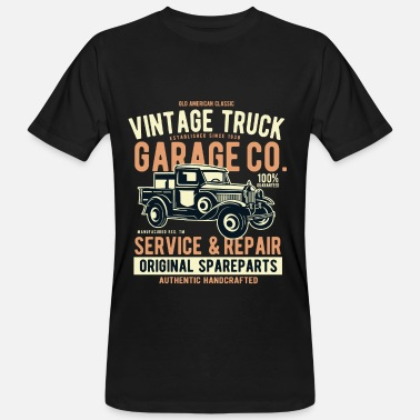 Pick Up Truck OLD PICK-UP TRUCK- Vintage Pick Up Truck Truck Shirt - Men's Organic T-Shirt