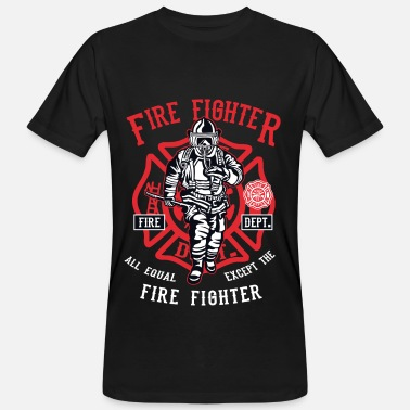 Brandweer FIREFIGHTER - Brandweerman Shirt Design - Mannen Bio-T-shirt