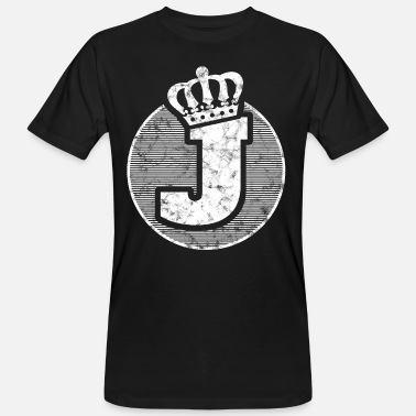 Letter J Stylish letter J with crown - Men's Organic T-Shirt