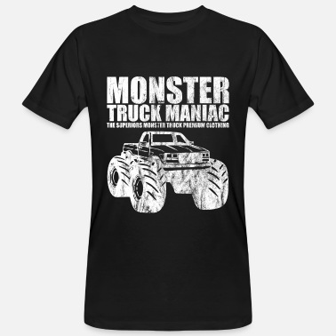 Monstertruck Ordnade ™ - MONSTER TRUCK MANIAC - tröja Design - Ekologisk T-shirt herr
