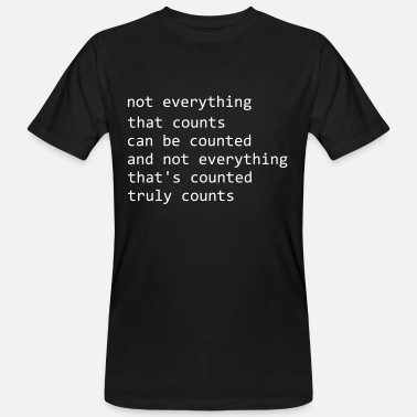 Albert Hofmann ALBERT EINSTEIN: NOT EVERYTHING CAN BE COUNTED - Men's Organic T-Shirt