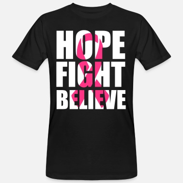 Ribbon Hope fight believe - Mannen Bio-T-shirt