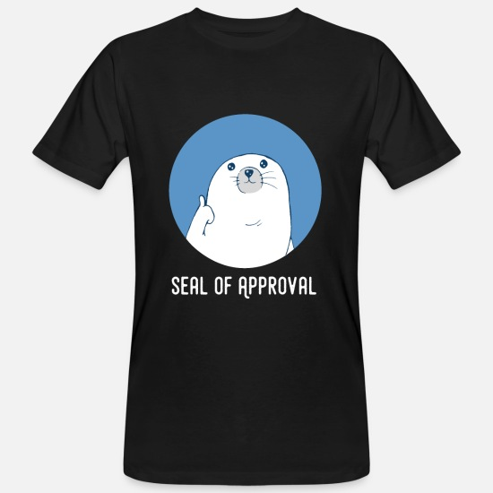Funny T-Shirts - Seerobbe thumb up sea animal Sea Lion Funny - Men's Organic T-Shirt black