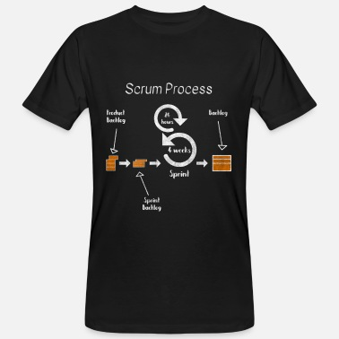 Scrum Process Agil Project Developer Development - Men's Organic T-Shirt