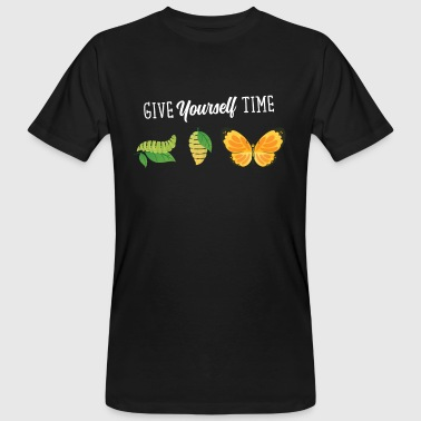Give Yourself Time. Butterfly Design - T-shirt ecologica da uomo