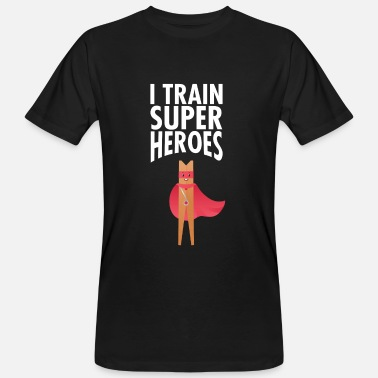 Coach I Train Superheroes - Mannen Bio-T-shirt