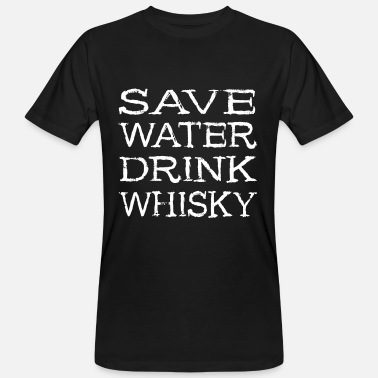 Single Drink Whisky - Single Malt Bourbon Geschenk - Männer Bio-T-Shirt