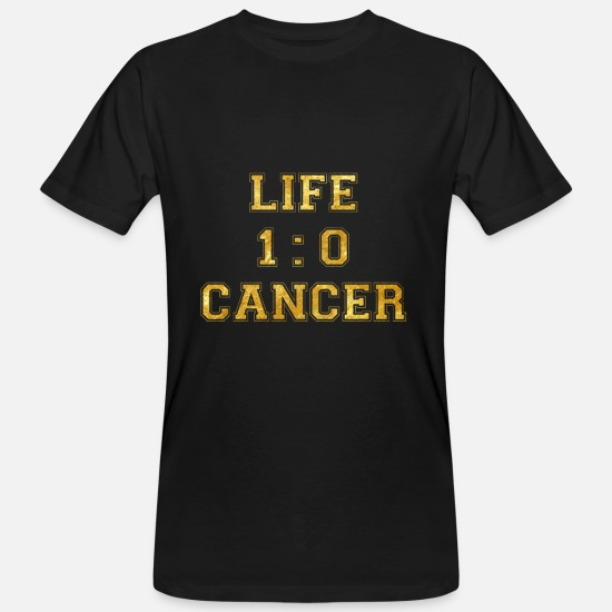 Breast T-Shirts - 1 to 0 life cancer death breast cancer chemo - Men's Organic T-Shirt black