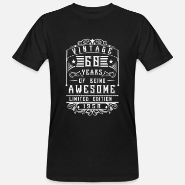 Jack Daniels 60 Years of being awesome Limited Edition 1958 - T-shirt bio Homme