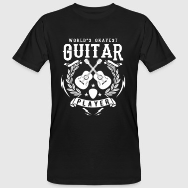 World's Okayest Guitar Player - cool band gift - T-shirt ecologica da uomo