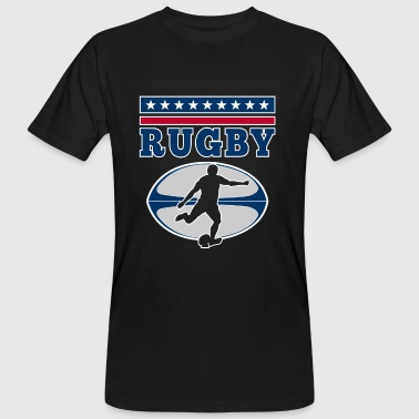 Rugby - football vintage USA player design - Mannen Bio-T-shirt