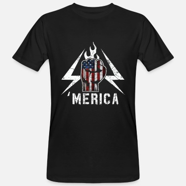 May Day 'MERICA  - U.S. Power Fist Lightning - Camiseta ecológica hombre