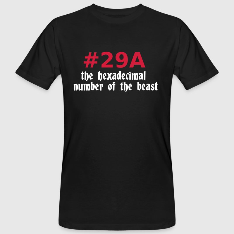 666 - satan - devil - the hexadecimal  number of the beast - 29A - Men's Organic T-shirt