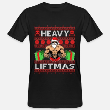 Workout HEAVY CHRISTMAS Ugly Sweater Santa Claus Gift - Men's Organic T-Shirt