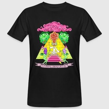 Rick And Morty Pyramid With Catchphrase - Ekologisk T-shirt herr