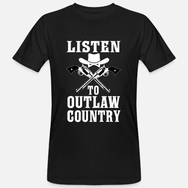 Country Abbreviation Listen To Outlaw Country - Southern Music - Men's Organic T-Shirt