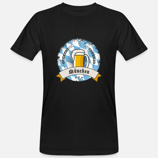 Festivals2017 T-Shirts - Munich Oktoberfest Beer garden humpen bier wiesn pi - Men's Organic T-Shirt black