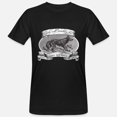 Wolf LONE WOLF - SEARCHING FOR HOOKERS AND COCAINE - Men's Organic T-Shirt