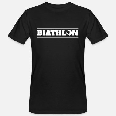 Biathlon Biathleta Biathlon Biathlete Shooting Cross Country Winter - T-shirt ecologica da uomo