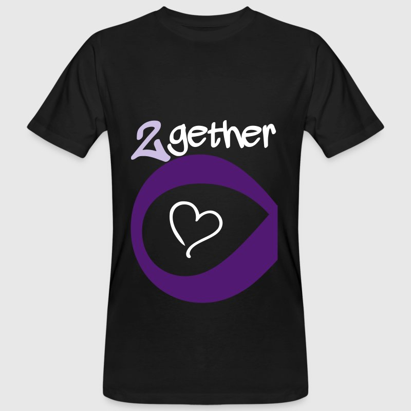 Couple Together forever Infinity - Mannen Bio-T-shirt