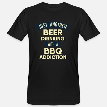 Bitch Aprons Pitmaster BBQ Barbecue food grill Put my meat in your mouth and swallow design bbq addiction - Men's Organic T-Shirt