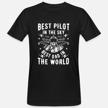 Jet Best pilot in the sky best dad in the world - Männer Bio-T-Shirt